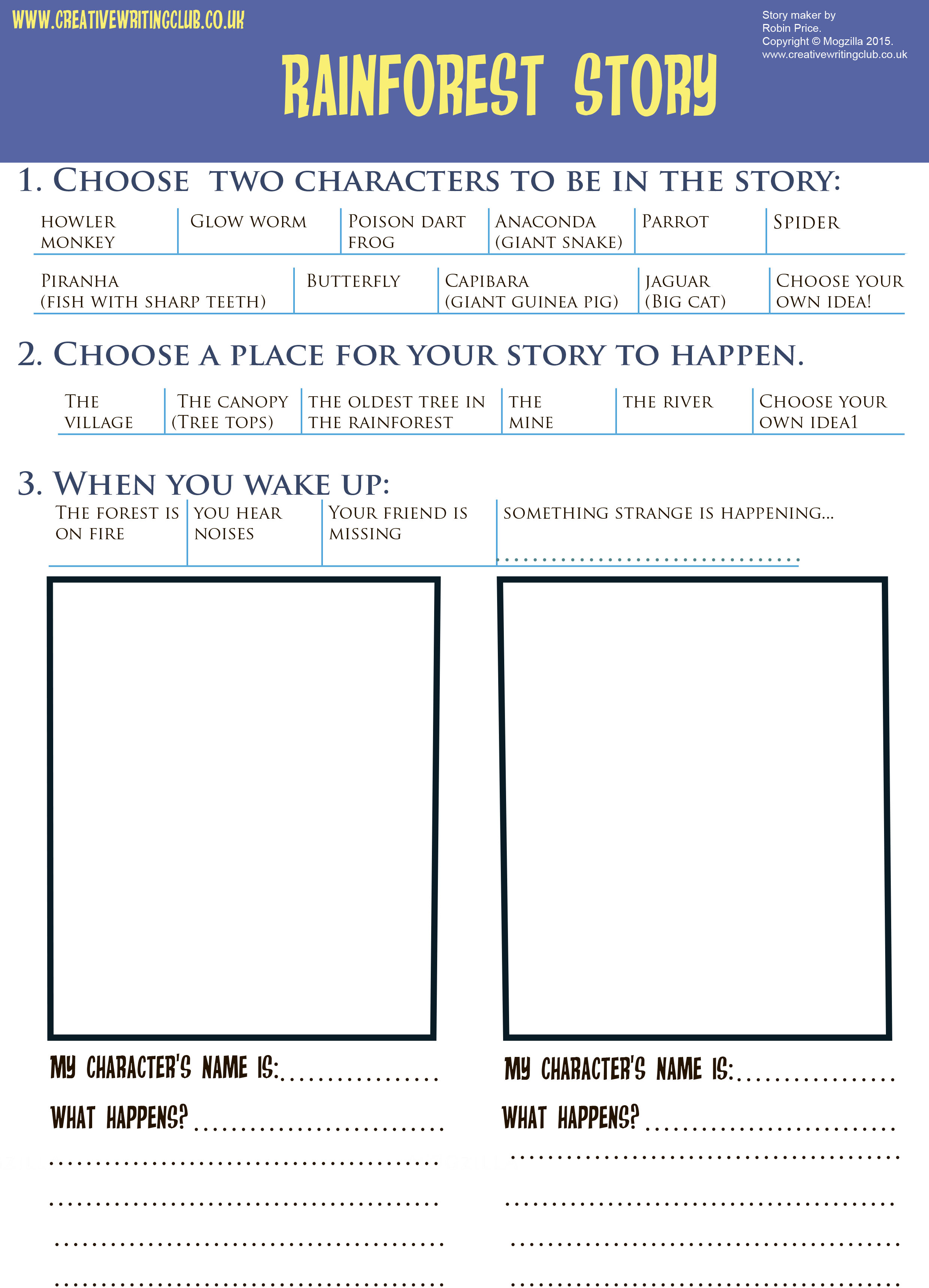 Download a writing frame to print