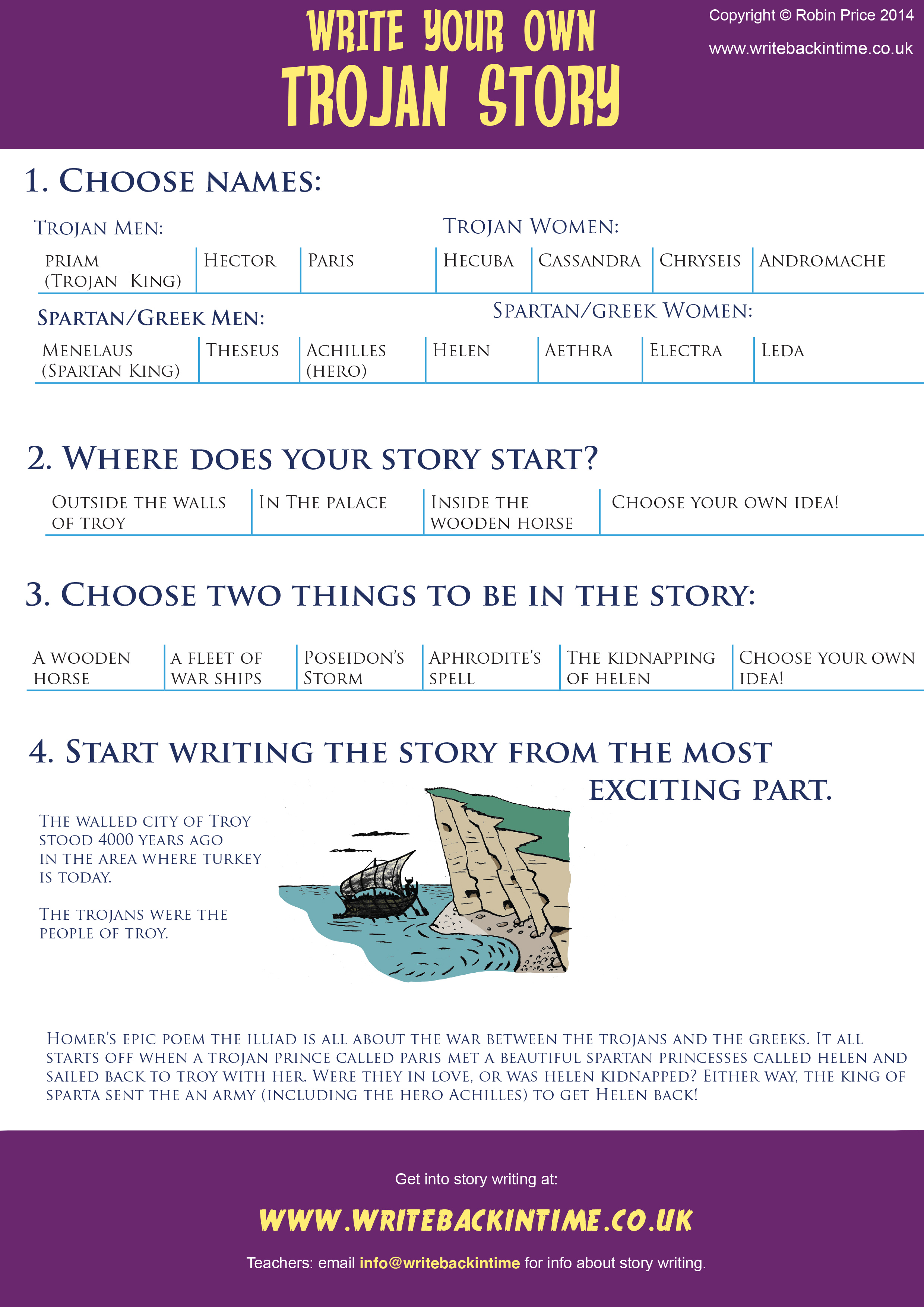 Download the Trojan horse writing frame