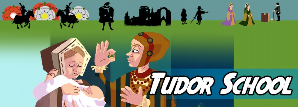 Write a story about life in a Tudor school