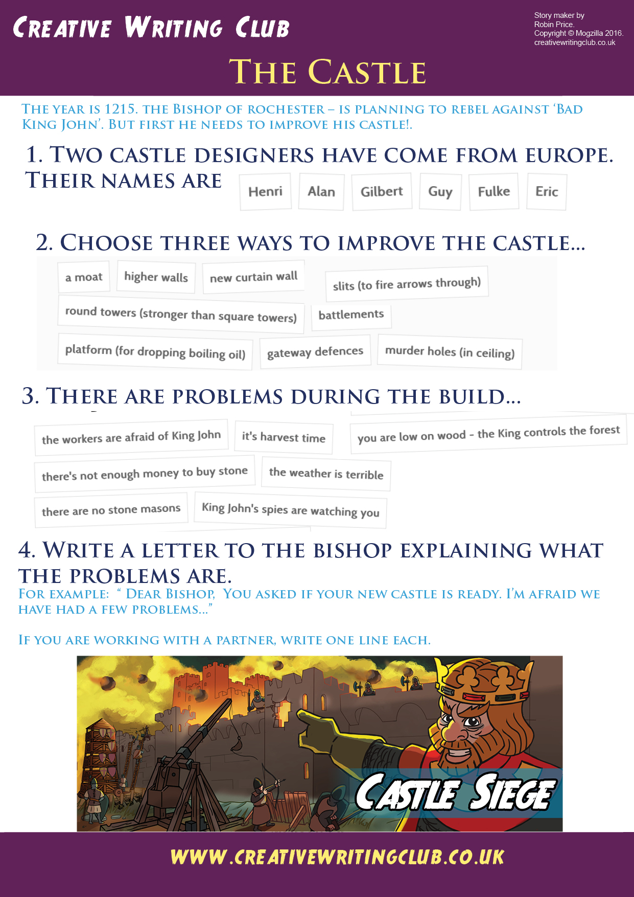 Write about castles