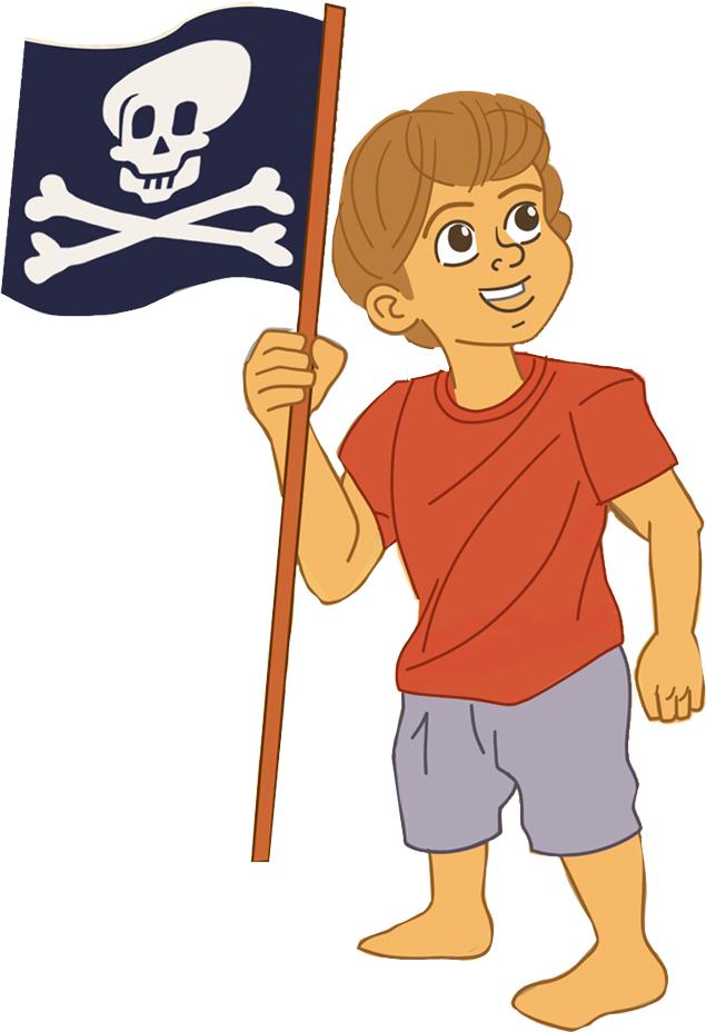 boy with flag