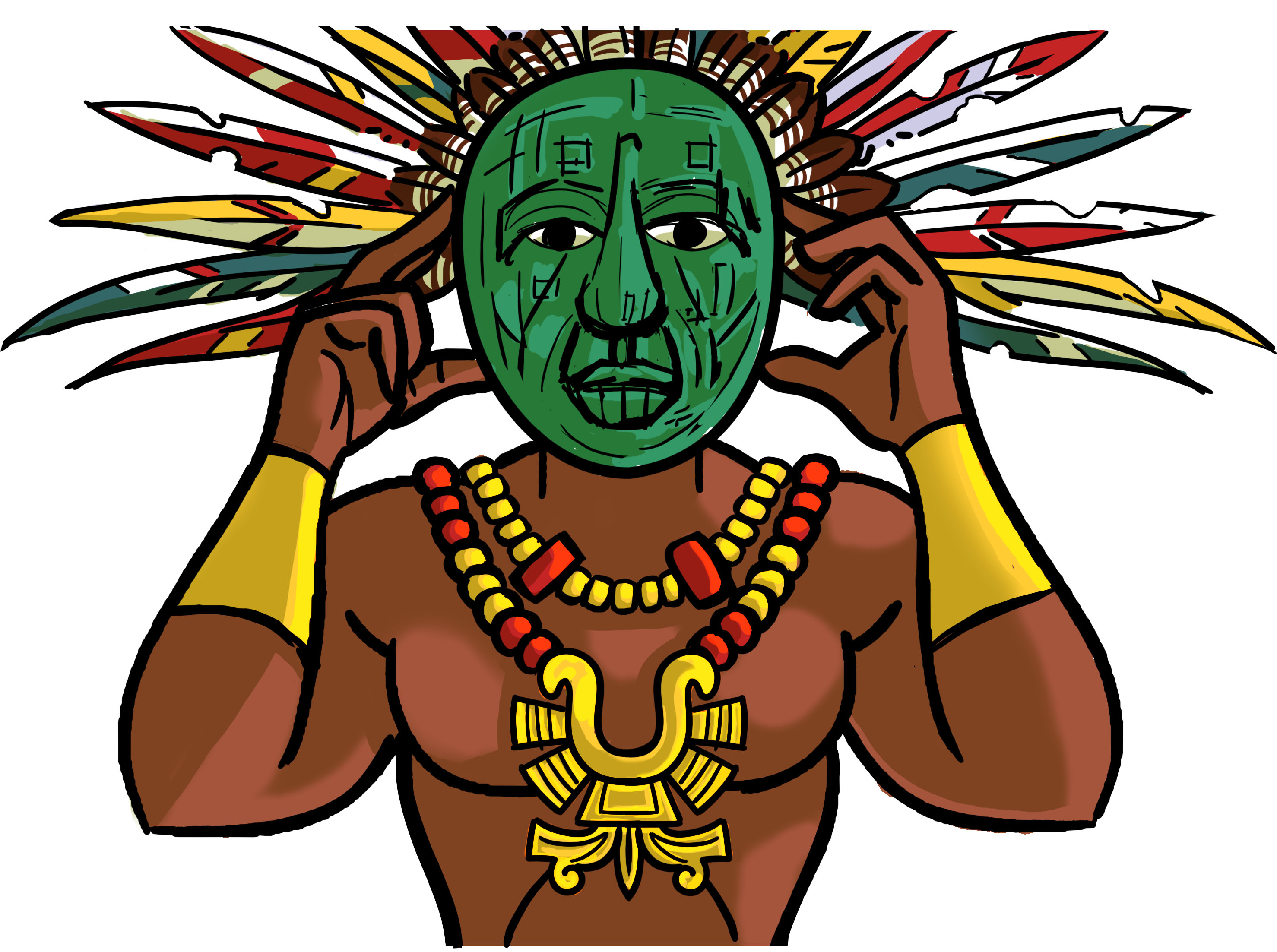 Aztec with mask